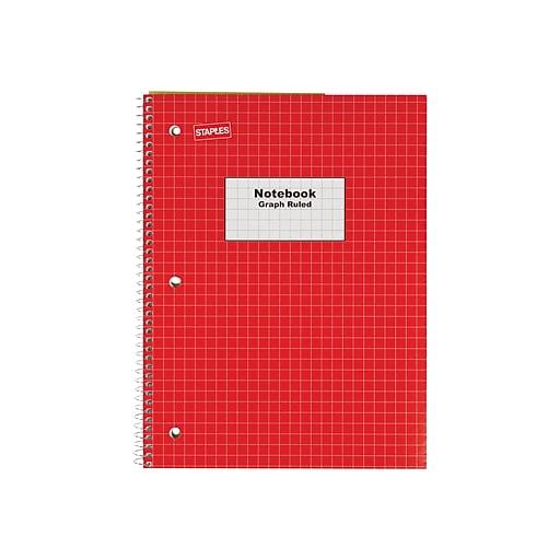 b48f1f8d85ec Staples® Graph Ruled 4x4 Spiral Notebook, 8
