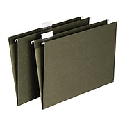 Staples Recycled Hanging File Folders, Legal Size, Standard Green, 25/Box (566913)