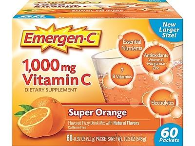 Emergen-C Vitamin C Powder, 60/Pack