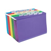 Staples Reinforced Hanging File Folders, 5 Tab, Legal Size, Assorted, 25/Box (18657-US-CC)