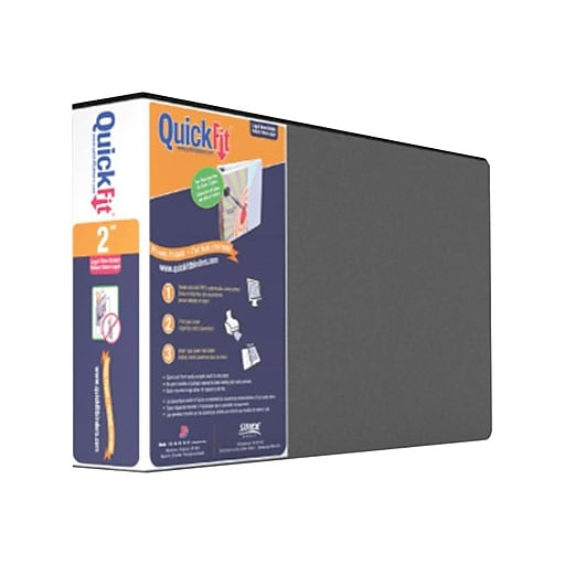 stride quickfit 1 inch round 3 ring binder black 95011l staples
