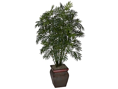Nearly Natural Mini Bamboo Palm in Decorative Vase (6717)