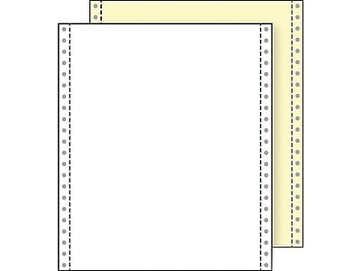 """Printworks Professional 9.5"""" x 11"""" Carbonless, White/Canary, 1400/Carton (02232)"""