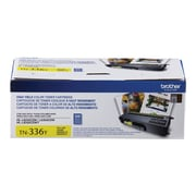 Brother TN 336Y Yellow Toner Cartridge, High Yield