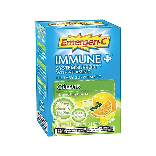 Emergen-C Immune+ Vitamin C Powder, 10/Pack