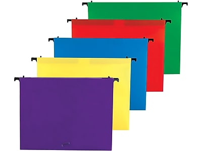 Staples Poly Expanding Hanging File Folders, Letter Size, Assorted, 5/Pack (36330)