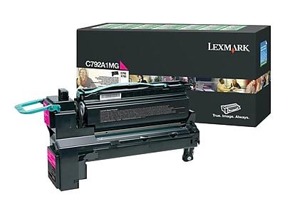 Lexmark C792A1MG Magenta Toner Cartridge, Standard