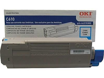 OKI 44315303 Cyan Toner Cartridge, Standard