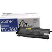 Brother TN 360 Black Toner Cartridges, High Yield, 2/Pack (TN-3602PK)