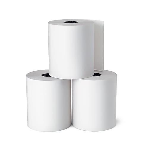 Staples Thermal Cash Register/POS Rolls, 3 1/8