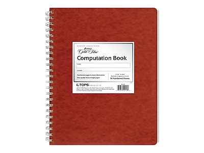 """Ampad Notepad, 9.37"""" x 11.75"""", Quad Ruled, Red, 76 Sheets/Pad (TOP 22-157)"""