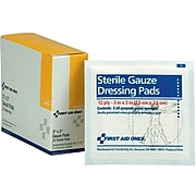 """First Aid Only 3"""" Sterile 12-Ply Pads, 20/Box (I211)"""