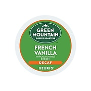 Green Mountain French Vanilla Decaf Coffee, Keurig® K-Cup® Pods, Light Roast, 24/Box (7732)