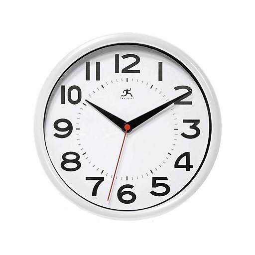 "Infinity Instruments Metro Wall Clock, Resin, 9""Dia. (14220WH-3364)"