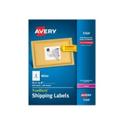 "Avery TrueBlock Laser Shipping Labels, 3 1/3"" x 4"" White, 600/Box (5164)"