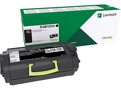 Lexmark 53B1000 Black Toner Cartridge, Standard