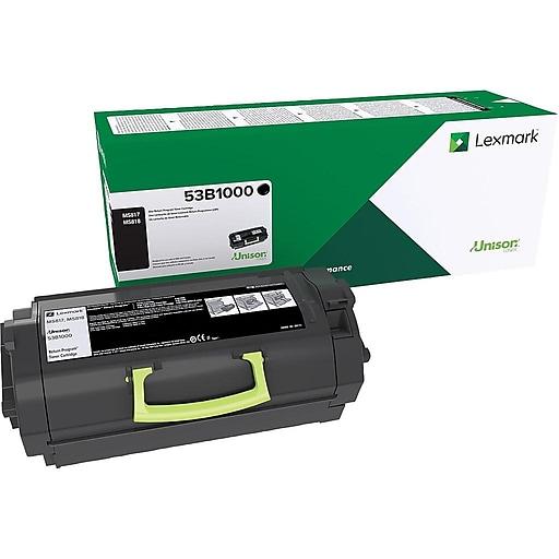 Lexmark 53B1000 Black Toner Cartridge, Standard