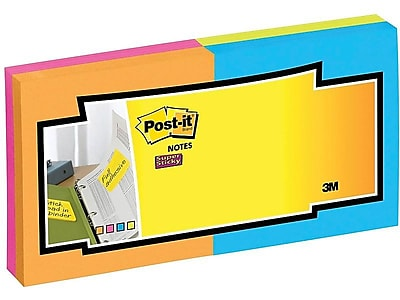 70 Sheets//Pad Rio de Janeiro Collection 24 Pads 3 in x 3 in Post-it Super Sticky Notes Cabinet Pack 2X Sticking Power 2-Pack
