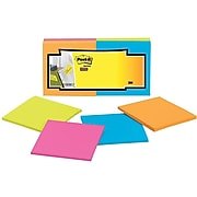 """Post-it® Super Sticky Full Stick Notes, 3"""" x 3"""", Rio De Janeiro Collection, 25 Sheets/Pad, 12 Pads/Pack (F330-12SSAU)"""