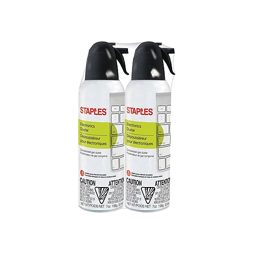 Staples Electronics Duster, 7 oz., 2 pack(SPL07ENFR-2)