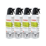 Staples Electronics Air Duster, Slight Ethereal, 4/Pack (SPL07ENFR-4)
