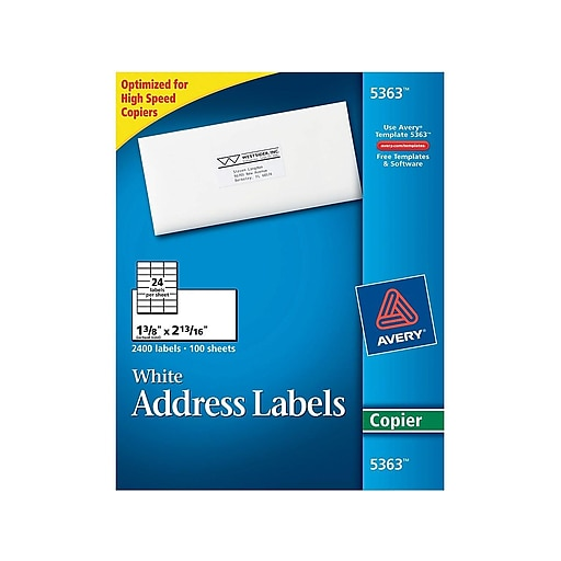 avery 5363 white copier labels 1 3 8 x 2 13 16 staples