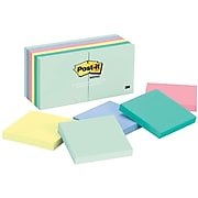 """Post-it® Notes, 3"""" x 3"""", Marseille Collection, 100 Sheets/Pad, 12 Pads (654-AST)"""