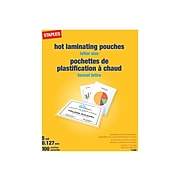 Staples Thermal Pouches, Letter, 100/Pack (17468)