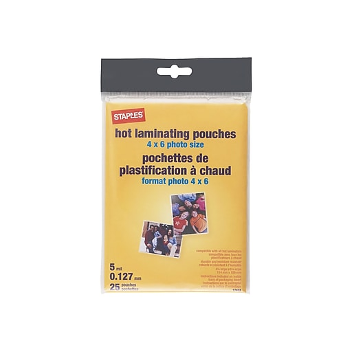 Staples 5mil Photo Size Thermal Laminating Pouches 25 Pack 17472 At Staples