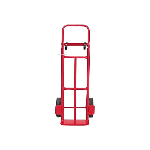Safco Convertible Heavy-Duty Hand Truck, 600 lbs , Red (4086R)
