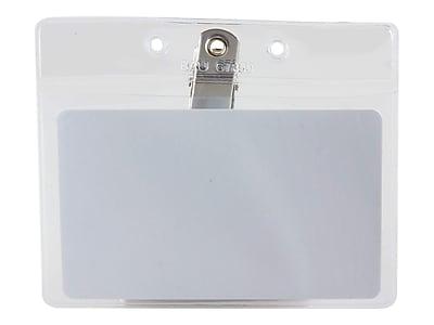 SICURIX Standard ID Badge Holders, Clear, 50/Box (67850)