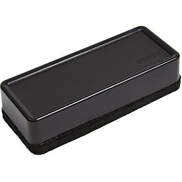 Staples Durable Dry Erase Eraser, Black (13612)