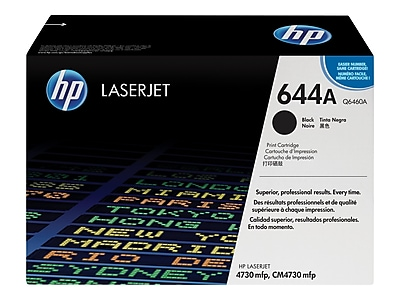 HP 644A Black Toner Cartridge, Standard (Q6460A)