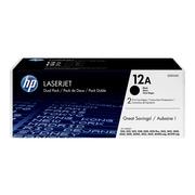 HP 12A Black Toner Cartridges, 2/Pack (Q2612D)