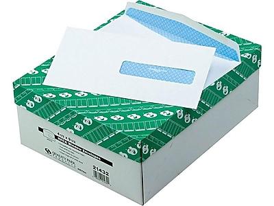 Quality Park Gummed Security Tinted Business Envelopes, 4 1/2