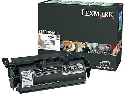 Lexmark T650H04A Black Toner Cartridge, High Yield