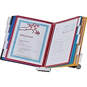 "Durable Sherpa 10-Document Desk Holder, 8.5"" x 11"", Plastic (554200)"