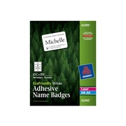 Avery EcoFriendly Sticker Name Tags/Labels, White, 160/Pack (42395)