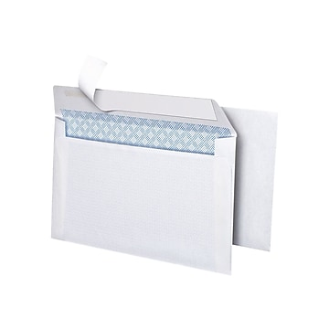 """Simply Self Seal Security Tinted #6 Business Envelopes, 3 5/8"""" x 6 1/2"""", White, 50/Box (862999)"""