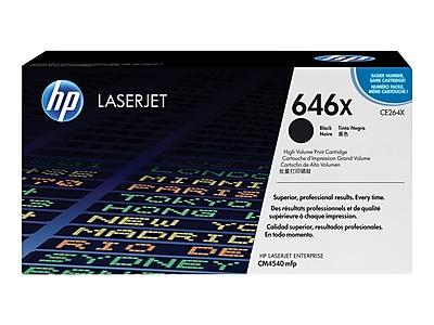 HP 646X Black Toner Cartridge, High Yield (CE264X)