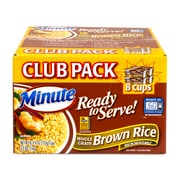 Minute Brown Rice Ready To Serve Microwaveable Cups, 8 Count (220-00895)