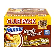 Minute Brown Rice Ready To Serve Microwaveable Cups, 8/Pack (220-00895)