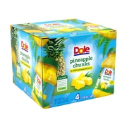 Dole Pineapple Chunks in 100% Juice, 20 oz, 4 Count (900-00165)