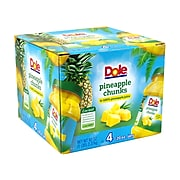 Dole Pineapple Chunks in 100% Juice, 20 Oz., 4/Pack (900-00165)