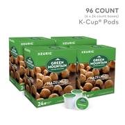 Green Mountain Hazelnut Coffee, Keurig® K-Cup® Pods, Light Roast, 96/Carton (6792)
