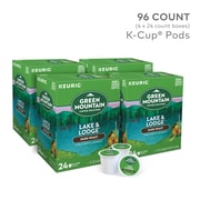 Green Mountain® Lake & Lodge Coffee, Keurig® K-Cup® Pods, Dark Roast, 96/Carton (65234)