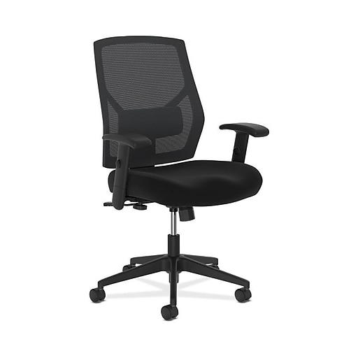 HON Crio High-Back Task Chair, Mesh Back, Adjustable Arms, Adjustable Lumbar, Black Fabric (BSXVL581ES10T) NEXT2019 NEXT2Day