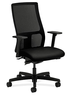 Incroyable HON Ignition Fabric Computer And Desk Office Chair, Adjustable Arms, Black  (HONIW103CU10) | Staples