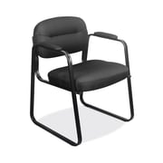 HON SofThread Leather Guest Chair, Black (HVL653SB11) NEXT2019