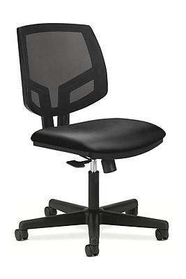 HON Volt Mesh Back Leather Computer and Desk Chair, Black (H5711.SB11.T)